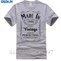 Made In 1966 T Shirt Born 50th Year Birthday Age Present Vintage Funny Mens Women Christmas