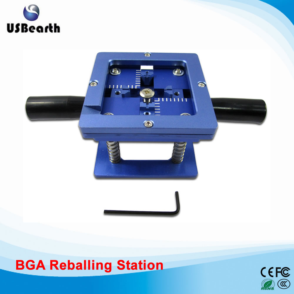 Best Quality BGA Reballing Station with Handle 90mm x 90mm Stencils Template Holder Jig latest laptop xbox ps3 bga 170pcs template bga kit 90mm for chip reballing