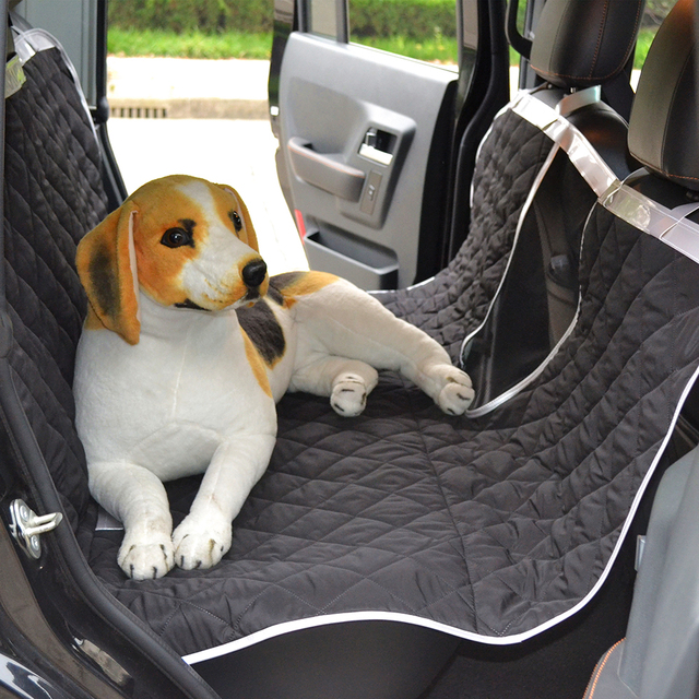 Water Resistant Polyester Pongee Pet Car Seat Covers Dog Cat Hammock Cover With Dogs Viewing
