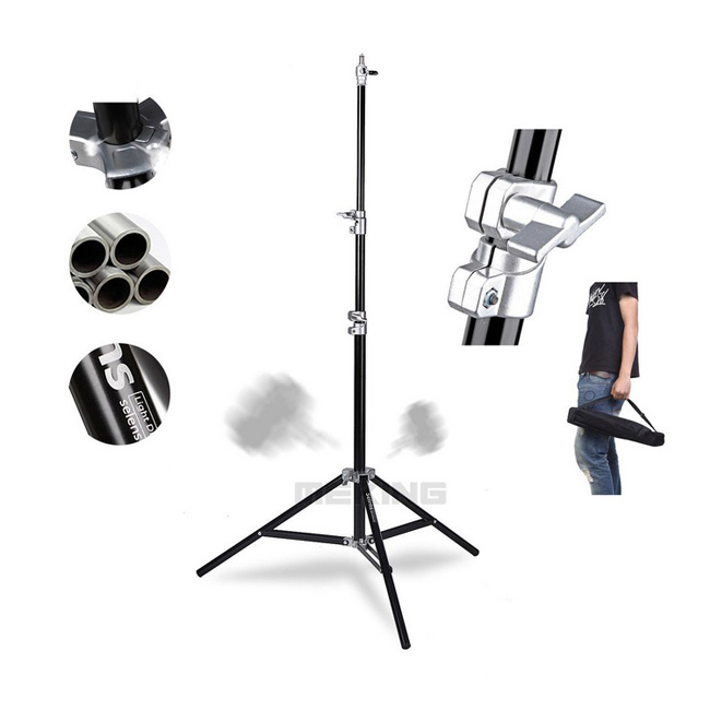 Selens Photo Studio Air-Cushion Heavy Duty Light Stand 4m 13.2ft SGT-4000A with carrying Bag for background load 7kg jb300 pro premium grade light stand 2 8m stand with air cushion professional air cushioned light stand no00dc