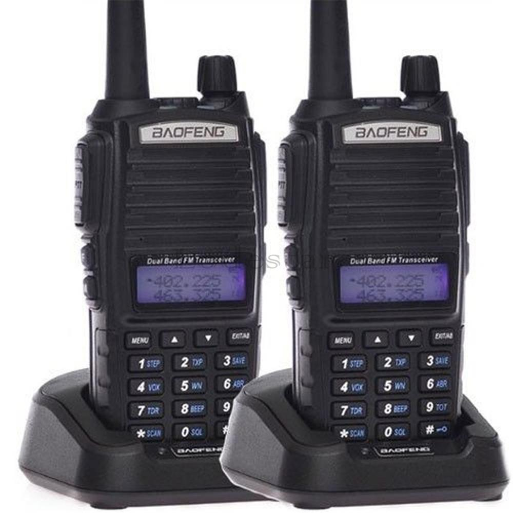 2pcs Original Baofeng UV 82 walkie talkie UV 82 Portable Radio Transceiver CB Ham Radio uv82