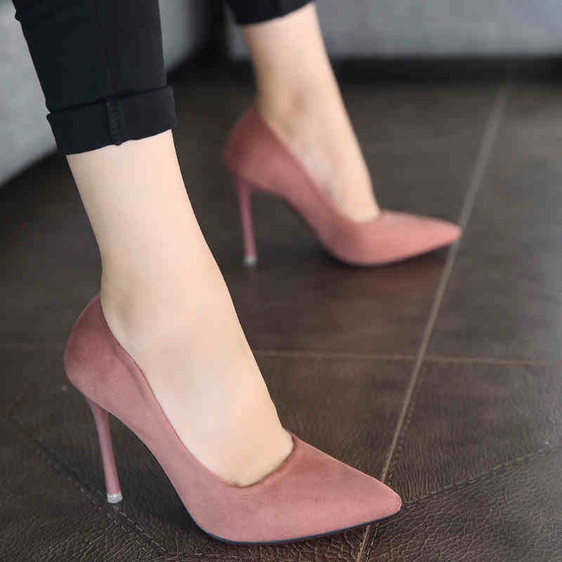 2017 New Spring models pointed shoes with thin red wedding shoes sexy singles club shallow mouth High-heeled Whoes Women  R54354 koovan women pumps 2017 spring new shallow mouth pointed shoes heel pearl buckle with high heeled ladies shoes