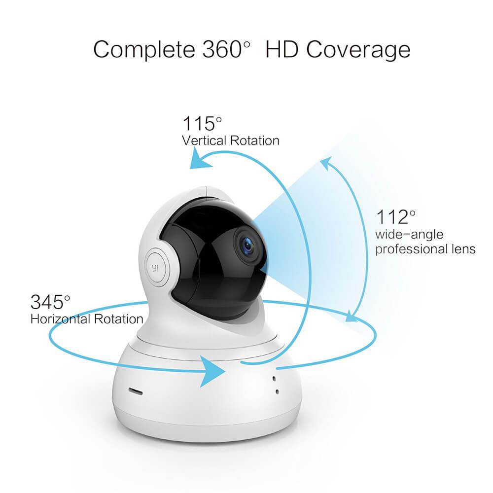 International Edition Xiaomi 720P HD Xiaoyi YI Dome Home Ip Camera 112 360 Degree PTZ