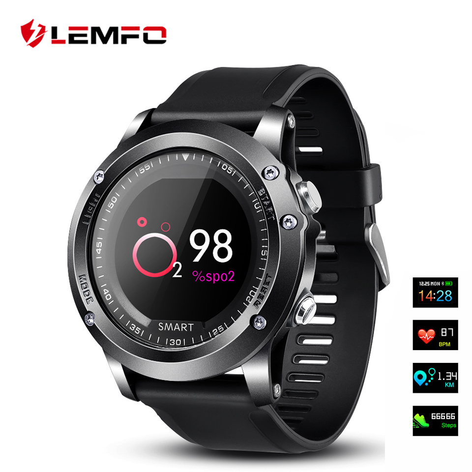 все цены на LEMFO Smart Watch IP68 Waterproof Heart Rate Blood Pressure Oxygen Monitor Smartwatches Sport Bluetooth Long-Standby for Men