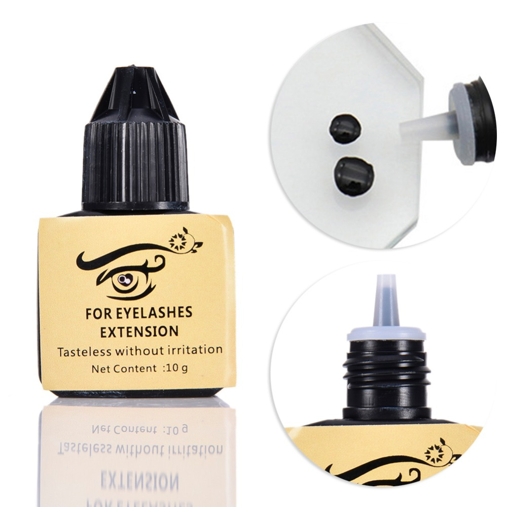 10ml Non-Irritating Hypoallergenic Practice Glue For Grafting Eyelashes Eyelash Extension Grafting False Eyelash Adhesive