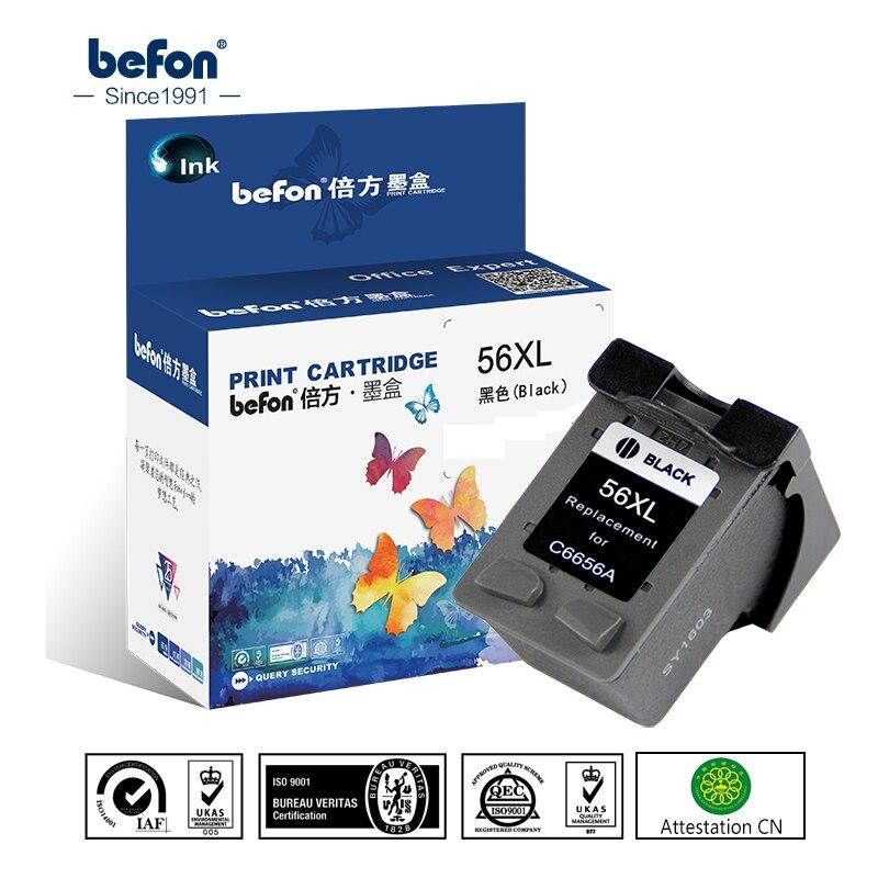 Befon remanufactura 56XL cartucho reemplazo para HP 56 HP56 negro cartucho de tinta Deskjet 2100 220 450 5510 5550 5552 7150 7350