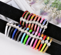 Women bracelet Mix Crystal Bracelet Leather Wrap Wristband Cuff Punk Magnetic Rhinestone Buckle Bracelet Bangle