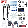 Universal DC24V Truck Bus 2-Doors Electric Power Window Kits 3pcs/Set Switches & Wire #FD-3847