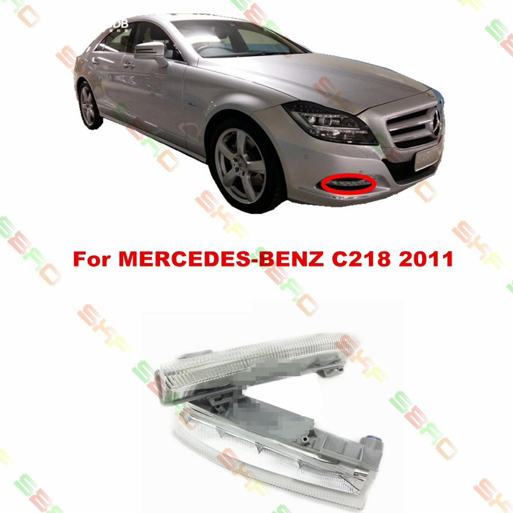 For MERCEDES-BENZ CLS  C218  2011  car styling fog light  led Daytime running lights  1 SET FOG LAMPS стоимость