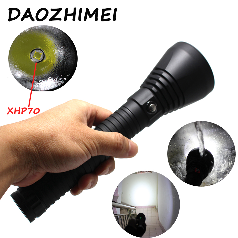 5000 Lumens XHP70 Waterproof Scuba Diving flashlight powerful XHP70 5000LM LED underwater flash light dive Lamp Light Torch 3800 lumens cree xm l t6 5 modes led tactical flashlight torch waterproof lamp torch hunting flash light lantern for camping z93