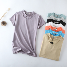 New Arrival 95% Cotton High Quality Summer Fashion T Shirt Women Basic T-shirts Female Casual Tops Short Sleeve T-shirt D1
