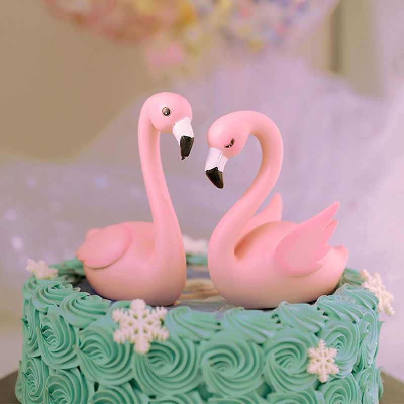 Groovy Pink Flamingo Cake Topper Decor Wedding Party Supplies Diy Home Funny Birthday Cards Online Fluifree Goldxyz