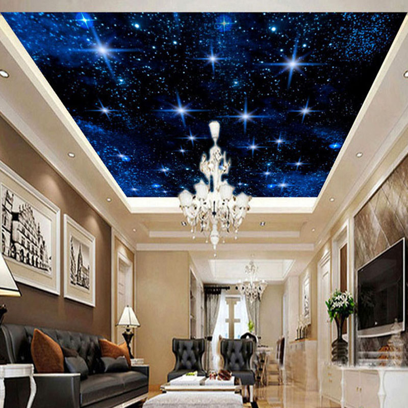 Custom Large Seamless Mosaic Ceiling Zenith Mural Wallpaper 3D Stereo Starry Sky Landscape Wall Painting Living Room Home Decor dove tree ceiling zenith large mural 3d wallpaper bedroom living room tv backdrop painting three dimensional 3d wallpaper
