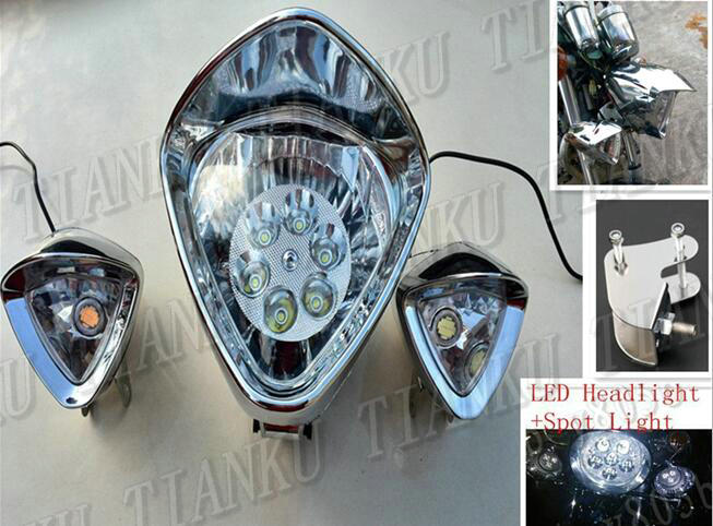 H4 LED Headlight Bulbs For Suzuki Boulevard M109R C50T C90T M50 M90 S40 S83 US