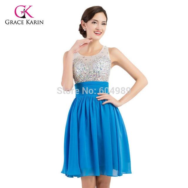 Online Shop Short Prom Dresses 2017 Grace Karin sweetheart sequins ...