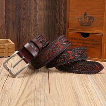 Ремни из натуральной кожи для мужчин из натуральной коровьей кожи высокого качества классический модный ремень для женщин винтажный ремень с пряжкой для джинсов