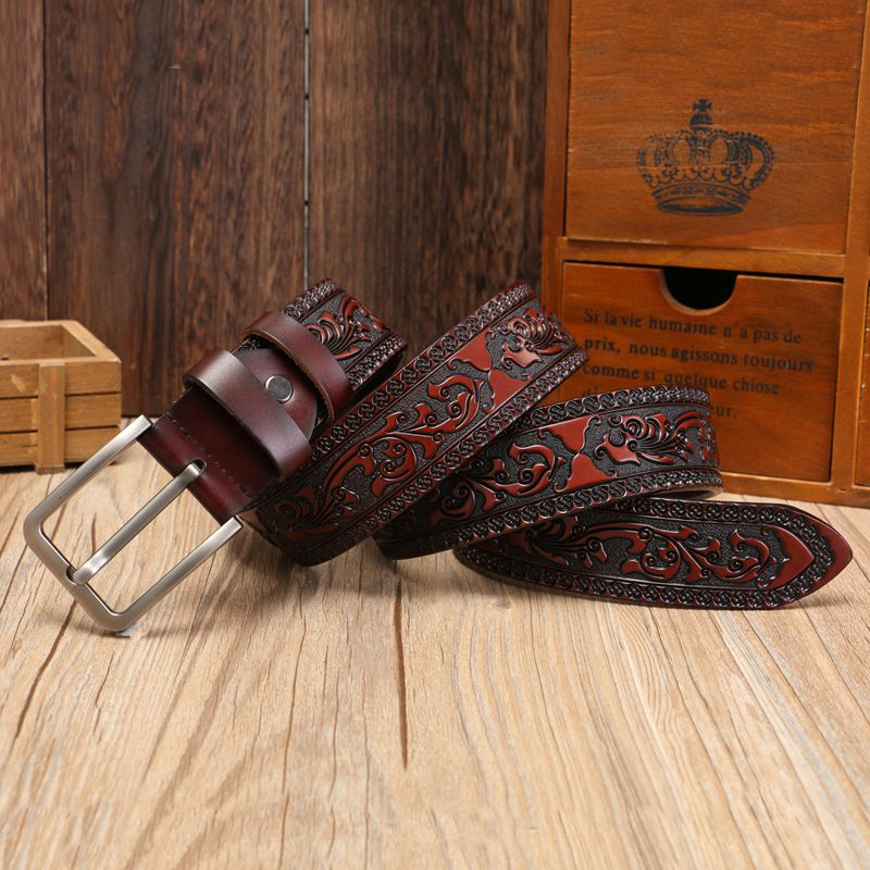 genuine leather   belts   for men genuine cow leather high quality classic fashion   belt   women vintage pin buckle strap for jeans