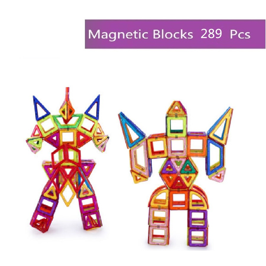 289 PCS Magnetic Blocks Building Sets educational fancy toys Magnet Brick Sets for Kids Children Gifts Magnetic Toys kids magnetic building blocks toys for children assemblage plastic abs irregular shape block gifts for the new year