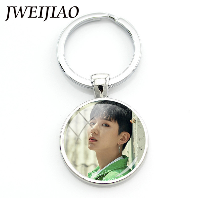 JWEIJIAO K-POP Monsta X Album Photo Keychain SHINE FOREVER Album Key Rings Photo Card Photocard Fans Custom Keyrings Chain MN14 jyj kimjunsu xia 3rd album vol 3 flower 1 random photocard release date 2015 3 18 kpop