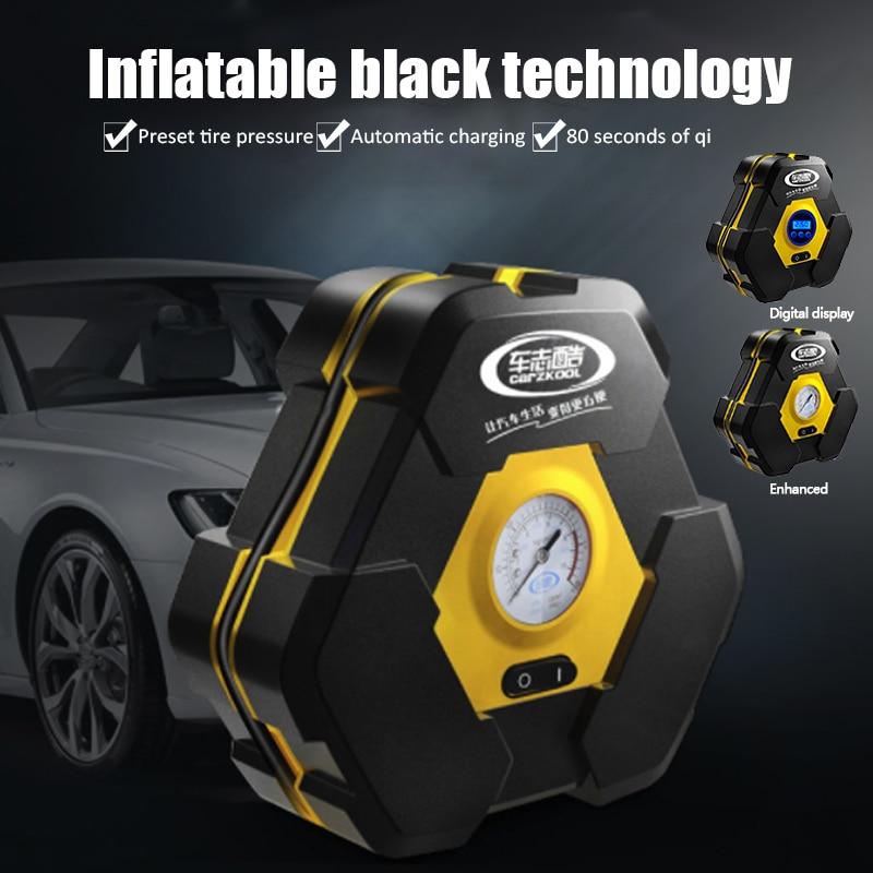 12v Car Electric Air Compressor Mini Compresor 19 Gang Pointer Tire Inflator with 3m Extend Power Cord Cigarette Lighter Plug