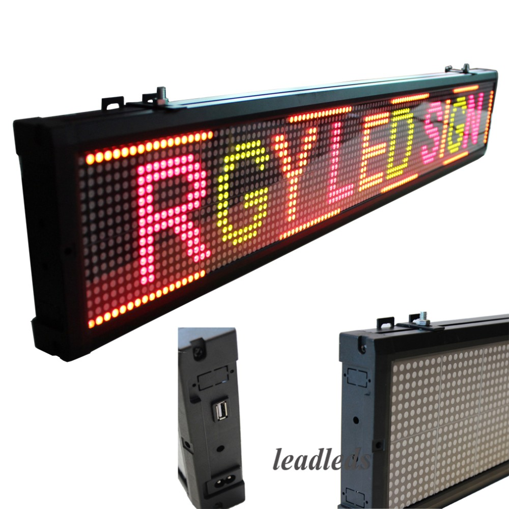 red yellow green led display