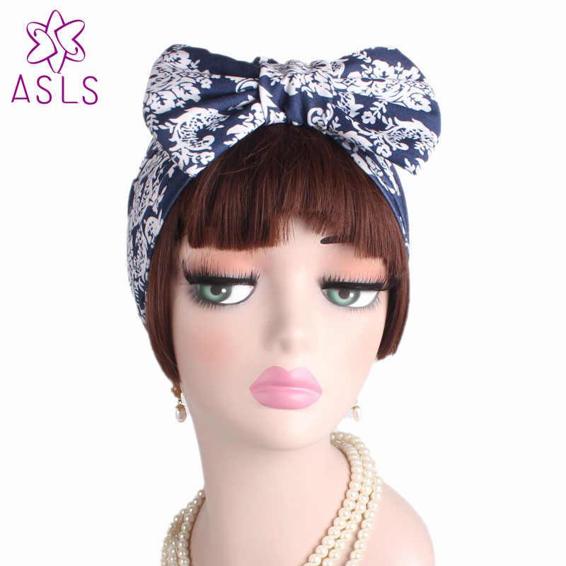 7caaf80b4fc ... 2018 New Fashion Comfortable spring gorerous Large Bow Turban Hat  strethy Bonnet Chemo Beanie Cap headwear ...