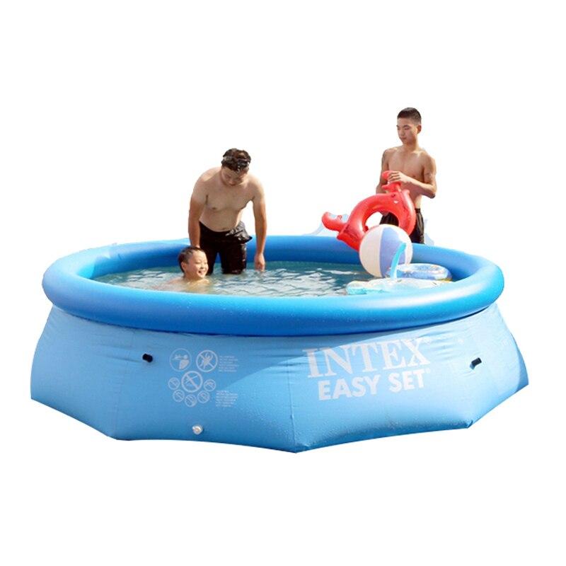 244 cm 76 cm INTEX bleu AGP piscine hors sol piscine familiale piscine gonflable pour adultes enfants enfant aqua eau d'été B33006 - 4