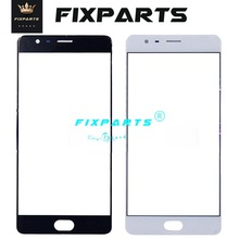 For Oneplus 3 3T Front Screen Glass Outer Lens 5.5 Oneplus3 Touch Panel Replacement X 5 Oneplus5 5T 2 Black/White