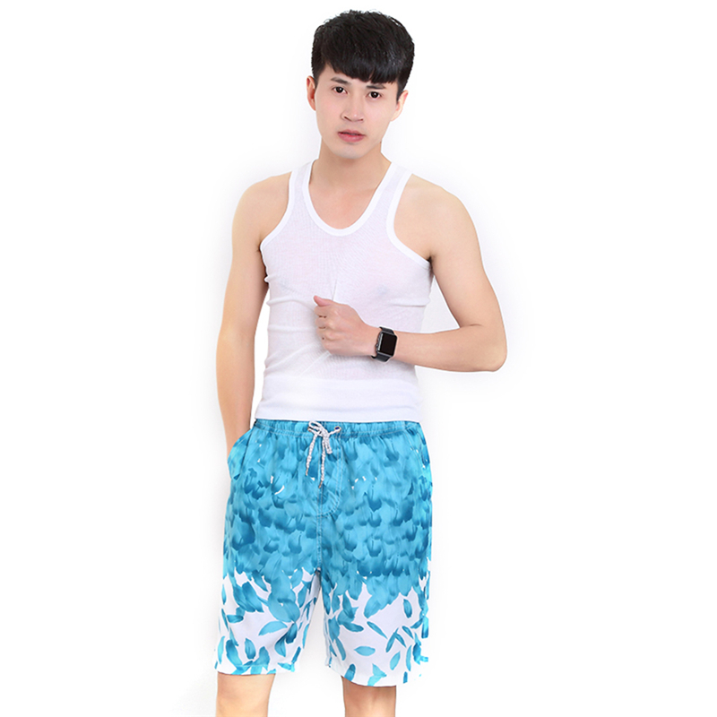 Men's Printing Beach Shorts Loose Floral Shorts Quick Dry Surfing Beach Pants Summer Plus Size Swimming shorts