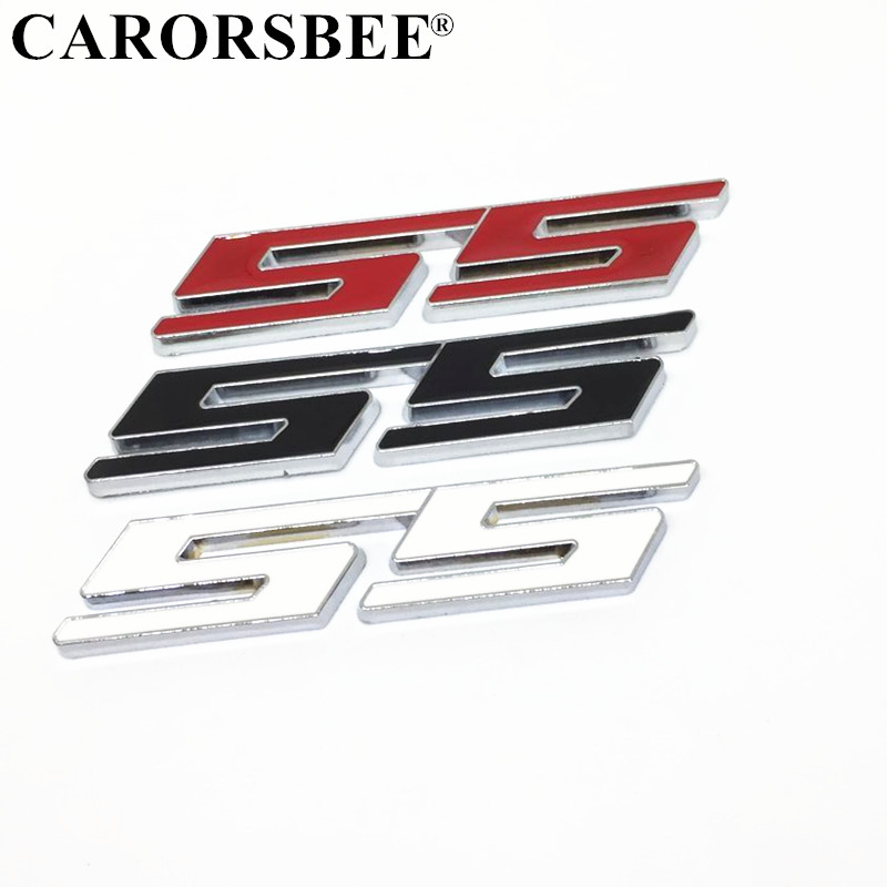 2x 3D Camaro Letter Emblem Decal Front Fender Side Door Car Badge Sticker Replacement for Chevy RS SS ZL1 Z28 Black