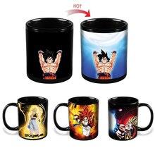 Drop verschiffen Dragon Ball Z Becher Goku Wärme Reaktiven Farbwechsel Becher Super Saiyan Milchkaffeetasse Taza Gogeta geschenk
