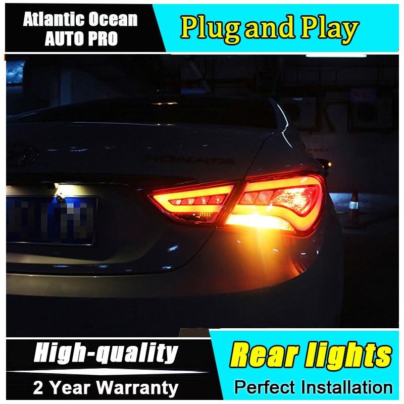 Автомобиль JGRT стайлинг для Хундай Соната задние фонари 2011-2014 Соната для LED задний фонарь ГЛК светодиодные задние Противотуманные лампы свет 1 пара ,4шт
