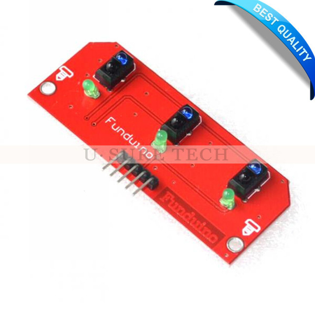5V 3 Channel Infrared Line Track Tracking Tracker Sensor Module For Arduino AVR ARM PIC