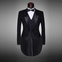Design classique Hommes Noir et Blanc Costume De Mariage Marié Smoking  Soirée Costumes Frac 4 pièces Blazer (veste + Pantalon + . aaf187eaca7