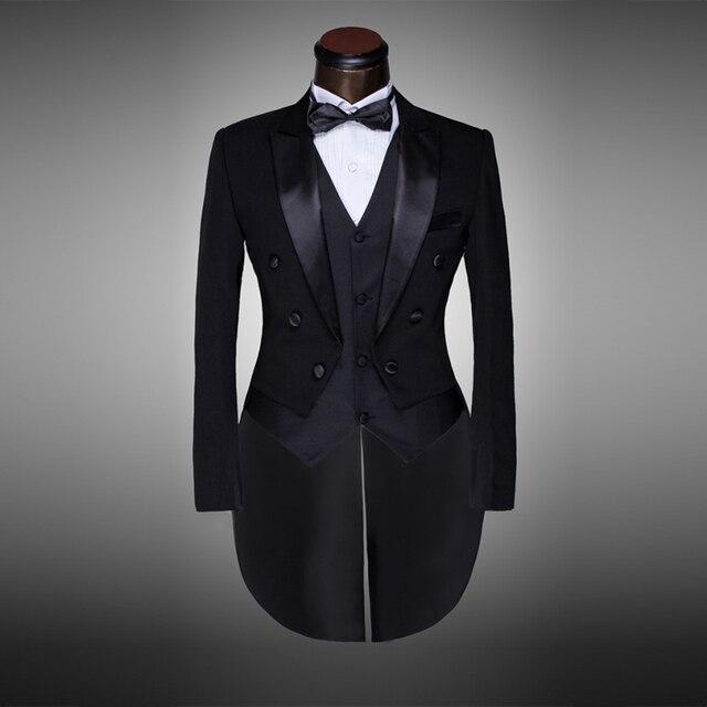 dff0d68dc6682 Traje de boda blanco y negro para hombre de diseño clásico esmoquin para  novio