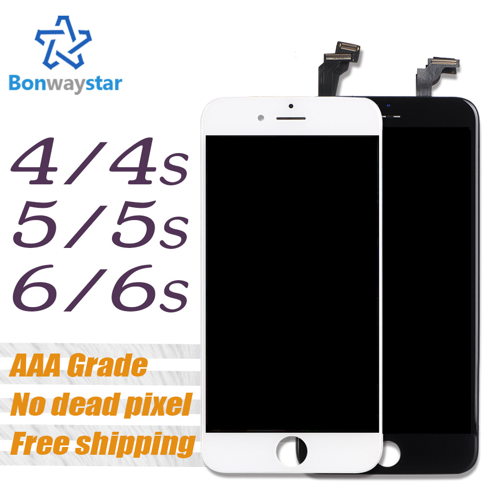 No Dead Pixel LCD For Iphone 5 5s Screen Display Part Glass Touch Panel Digitizer Assembly Screen for iPhone 6 6s Complete Tools