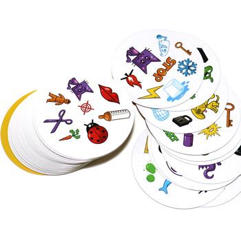 70mm spot gry planszowe wersja miniaturowa dla dzieci jak to klasyczna edukacja gra w karty angielska wersja strona główna zabawa tanie i dobre opinie home party fun card games diameter 70mm 55 cards