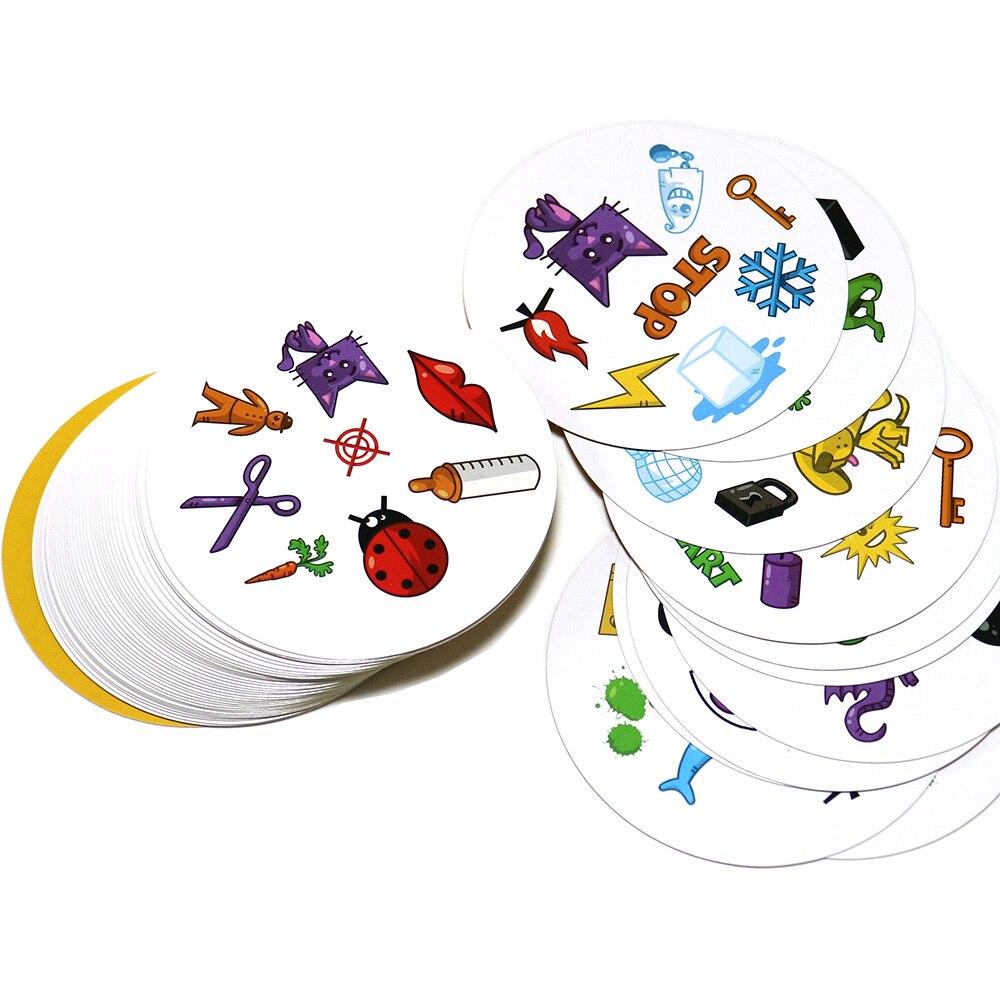 70mm spot jeux de société mini style pour les enfants l'aiment classique éducation jeu de cartes version anglaise accueil fête fun