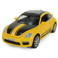 Classic 1 32 Scale Simulation Diecast Cars Limited Edition Volkswagen Beetle GSR Model With Light Sound