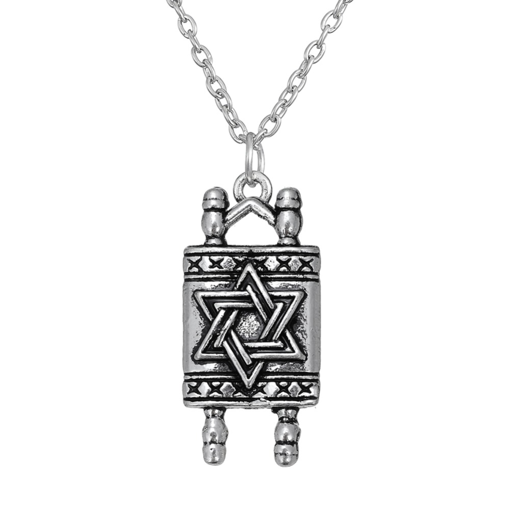 Dawapara jewish hebrew sefer torah scroll religious men for Star of david necklace mens jewelry