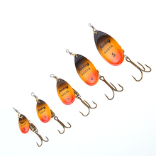 FISH KING Spinner Bait Mepps 1PC Size 1#-5# Fishing Lure Bass Hard Baits Spoon With Treble Hook Tackle