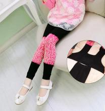 Color Block Kids Baby Girls Leggings Spring Autumn New Stylish Elastic Knit Non Pilling Children's Leggings for 3-12 Years YP666 cut and sew color block leggings