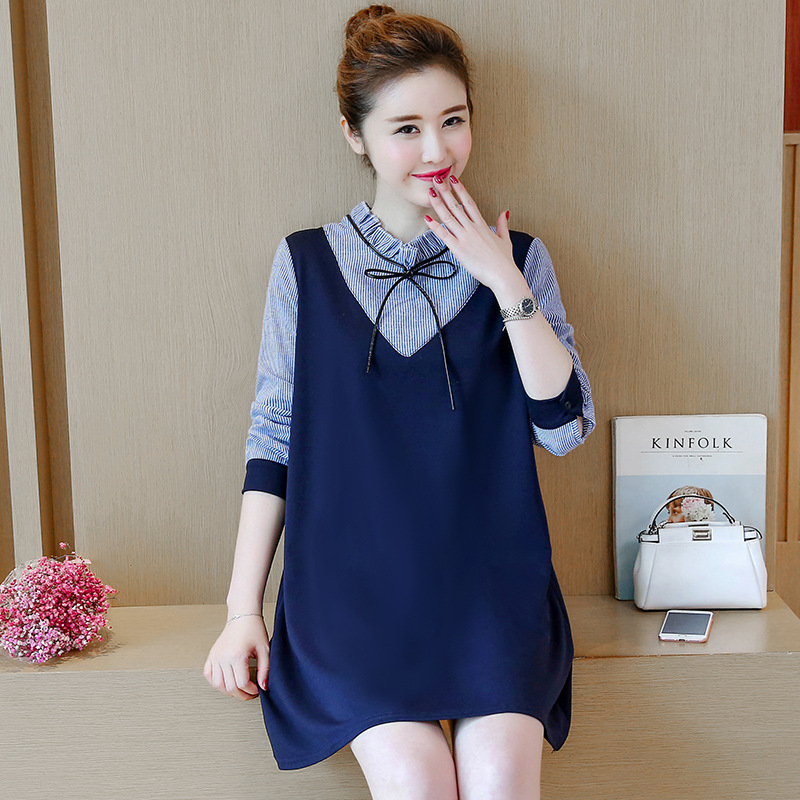 New Design Loose Fashion Fall and Winter Warm Clothes Inner Elegant Dress Factory Custom Wholesale Pregnant Women Maternity