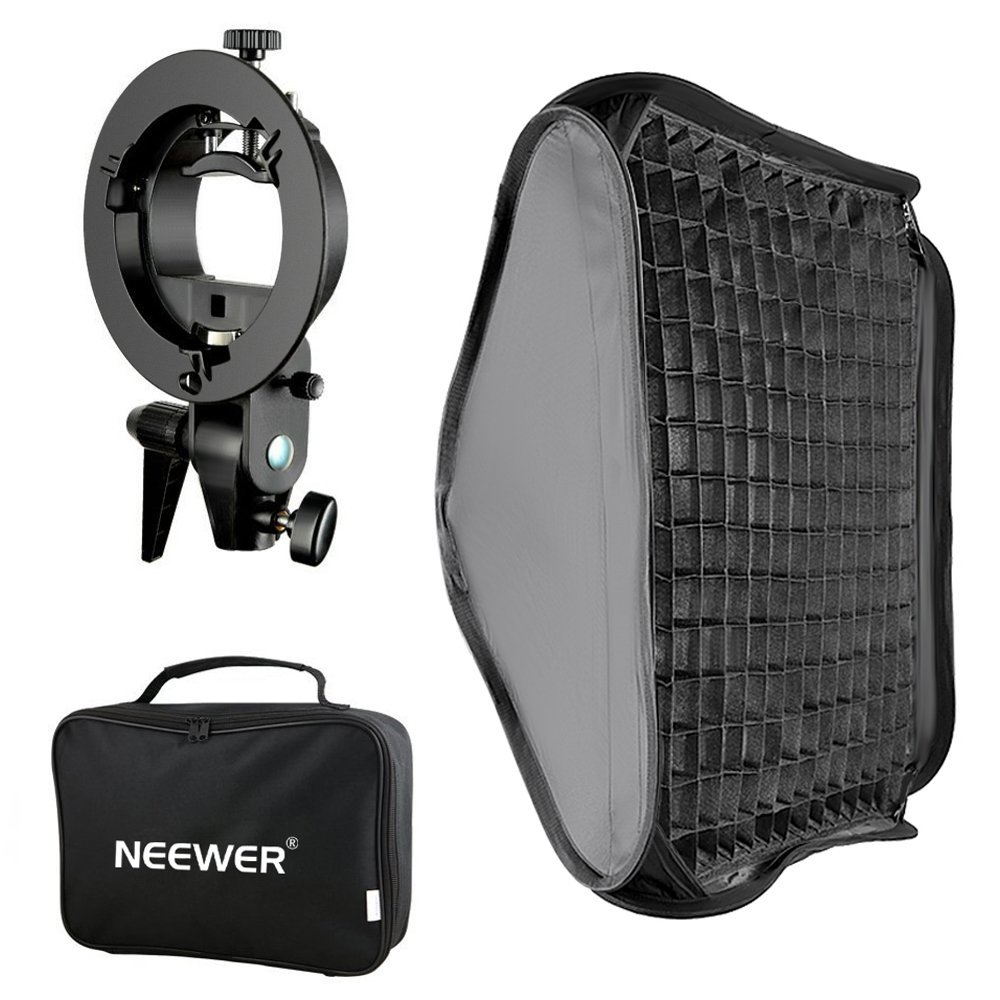 Neewer Bowens Mount Softbox With Grid And S-type Flash Bracket For Nikon SB-600/-800/-900/-910/Canon 380EX/430EX