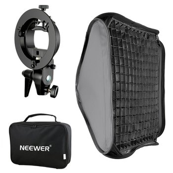 Neewer Bowens Mount Softbox with Grid and S-type Flash Bracket for Nikon SB-600/-800/-900/-910/Canon 380EX/430EX godox 50cm 130cm strip beehive honeycomb grid softbox with for bowens mount studio strobe flash light photography lighting