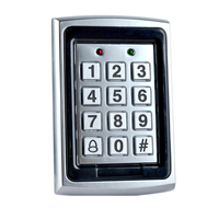 Hot Sale RFID Metal Access Controller Keypad 1000 Users with Blue backlight for Electric Door Lock System