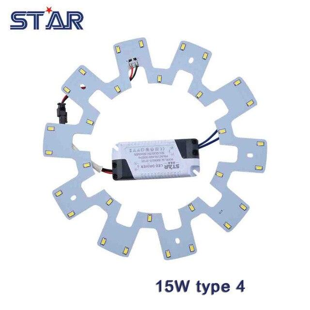 15W LED Ceiling Light DIY Replacement Magnet Board PCB SMD5730 110-240V Emergency Fluorescent CFL Lamp Panel Light LED Ring Tube