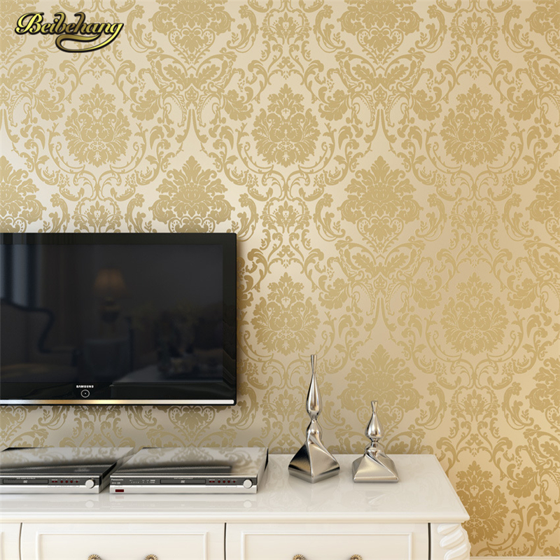 beibehang French Modern Damask Feature Wallpaper Roll For Living Room Bedroom TV Backdrop papel de parede 3d stereoscopic video trait d union level 2 cahier de lecture ecriture french edition
