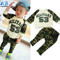 Kids boys sport clothing sets infantil newborn military army t-shirt pants baby boys clothes suits spring children tracksuits
