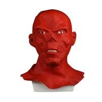 Star Wars Horror Full Head Masquerade Red Skull Hood Latex Mask Halloween Cosplay Zombie Mask New